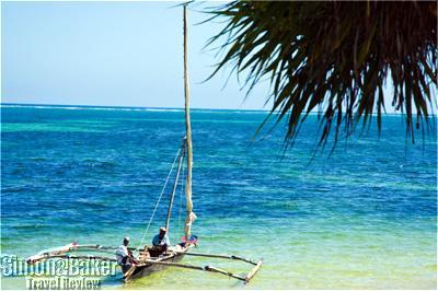 The beach at the Serena Mombasa Beach Hotel