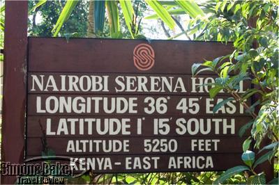 Nairobi Serena Hotel sign