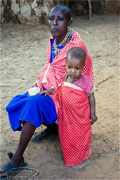 A Masaai woman and child at a Porini property