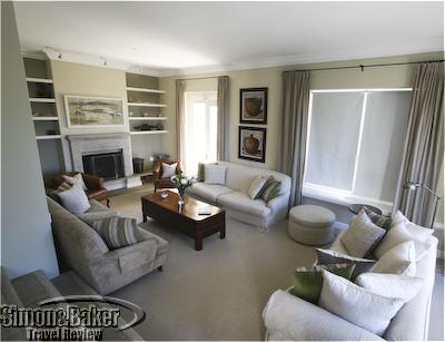 The living room at Villa Higgovale