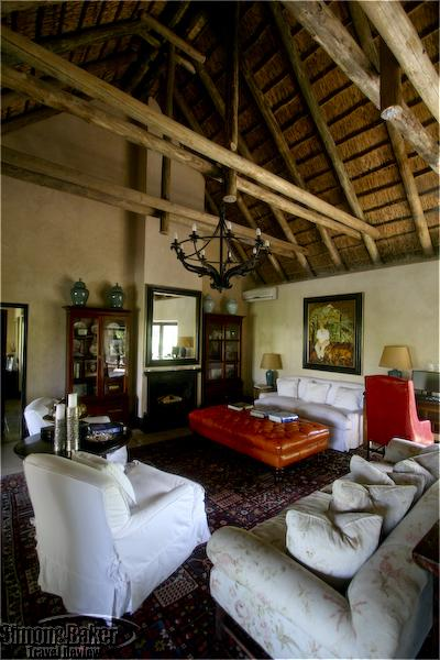 The interior of a suite at the Royal Malewane