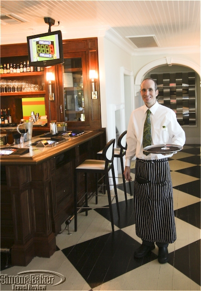 A server at the Vintner Grill