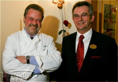 Jörg Glauben and Birgit Neumueller at Tschifflik restaurant