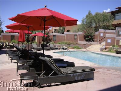The pool area at Sedona Rouge
