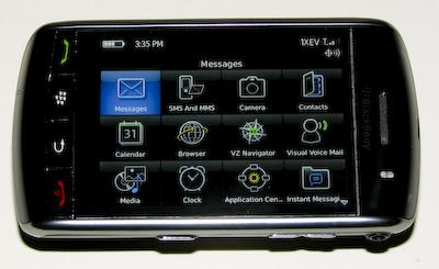 Verizon Blackberry Storm Horizontal