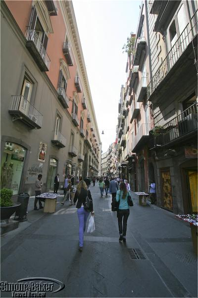 City streets in the Naples, Italy