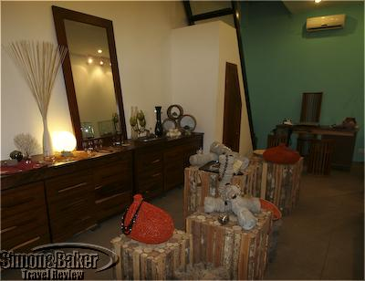 The shop features many of his designs in natural displays