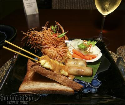 Tasty and attractive appetizer plate