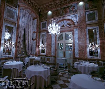 The dining room at Les Ambassadeurs