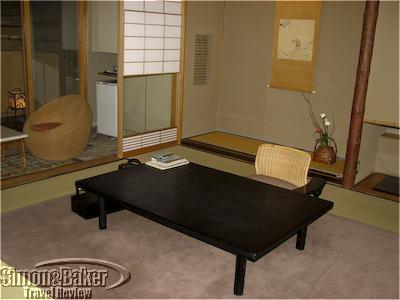Ryokan room with traditional furnishings