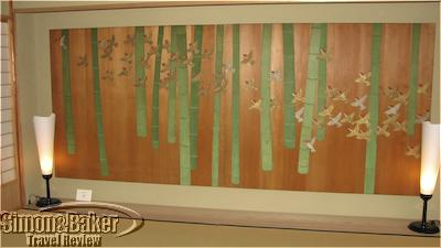 Artwork on wood panels with natural materials