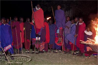 Masai students share their traditional dances with Crater Lodge guests