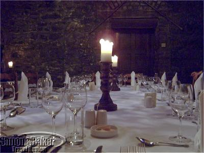 Dining in the 13th century castle