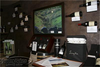 The Singita shop featured wine related merchandise