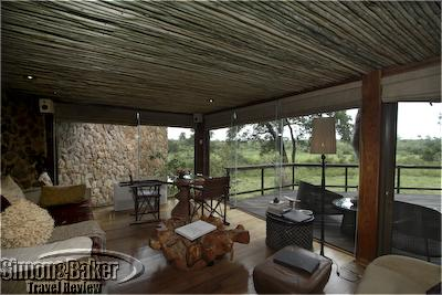 The suite at Boulders featured a stunning view of the bush