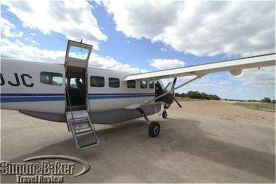 Ready for boarding at Royal Malewane airstrip