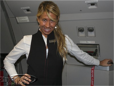 Onboard crew member Pilar Rumbero
