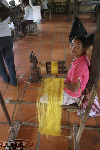 The next stage is to make thread from the silk