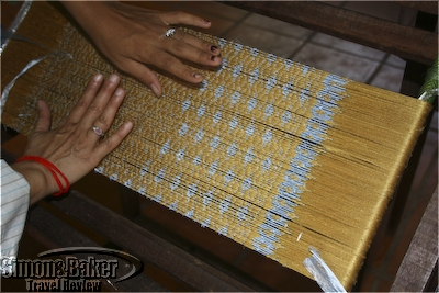 The cloth is woven by hand