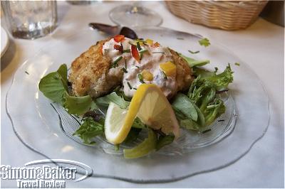 The Squam Lake Inn Café has scrumptious crab cakes