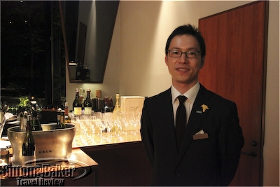 arcana Izu Sommelier Shinjiro Kobayashi guided me through Arcana Izu's 12 page wine booklet.