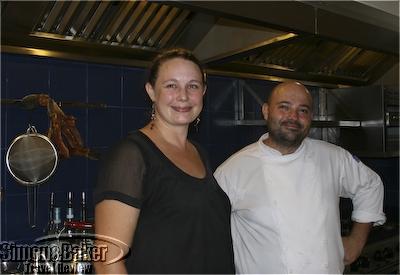 Carol Salmon and Joannès Riviere of Cuisine Wat Damnak