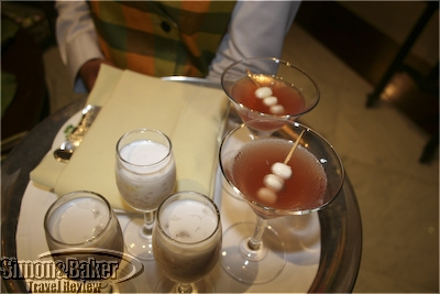 Lotus flower based drink demonstration and tasting