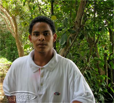 My guide in the caribe village