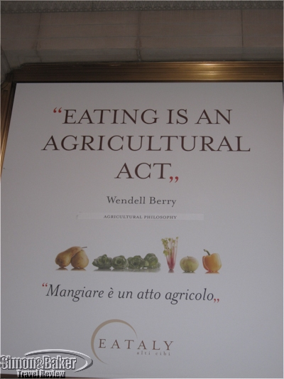 An example of the signage scattered throughout Eataly