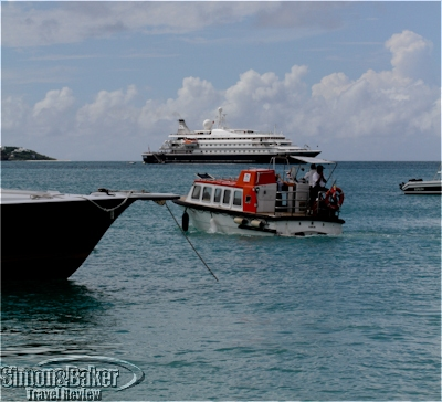 The SeaDream I tender heading out to the yacht