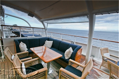 Coffee spot near top of the yacht bar