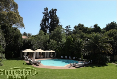 The pool area at Fairlawns