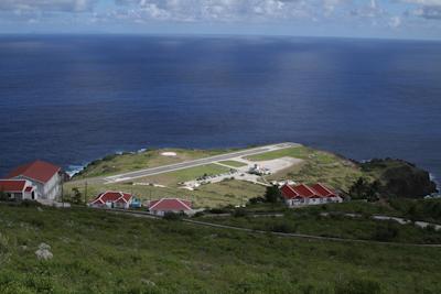The tiny Saba airport