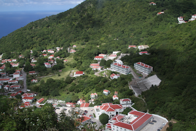 Houses on Saba all use a consistent color scheme