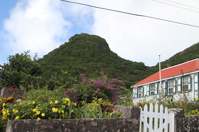 Cute little houses and flowers dotted the hills