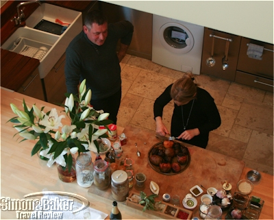 Katherine and Yannick in the kitchen