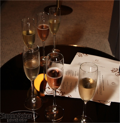 A tasting selection of Graham Beck sparkling wine