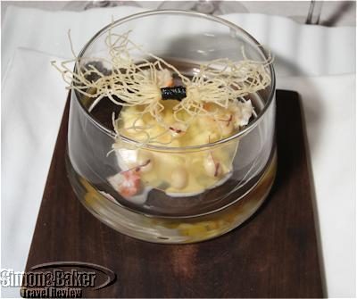 King crab with apple