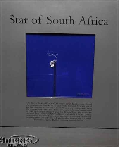 Replica of the Star of South Africa