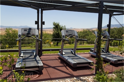 Outdoor treadmills at Adler Thermae, Tuscany