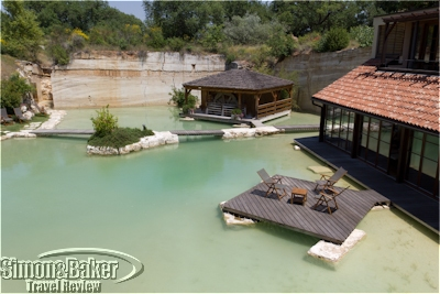 The outdoor spa area, Adler Thermae, Tuscany