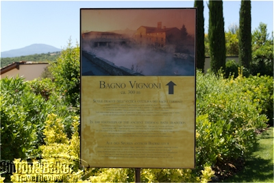 Bagna Vignoni hot spring, where the spa waters originate