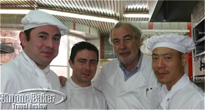 Marc Meneau and his chefs