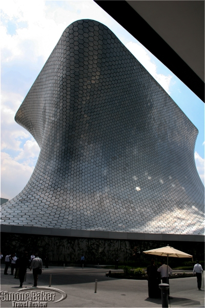 The exterior of the Soumaya Museum