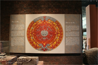 A representation of the Stone of the Sun at the Anthropology Museum
