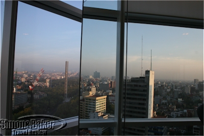 Mexico City is reflected in the mirrors of the St. Regis gym