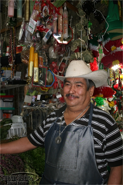 Margarito Angeles Ramirez sold herbs at the market