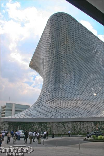 The unique exterior of the Soumaya museum