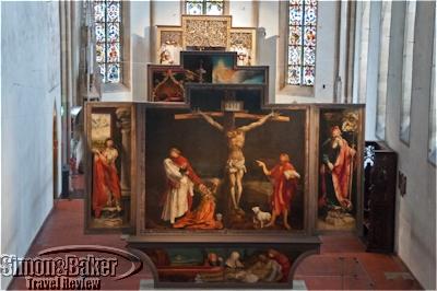 Matthias Grünewald's masterpiece, the Isenheim altarpiece is on display at the Unterlinden Museum