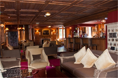 The Les Violettes bar sat in the corner of the open plan lounge